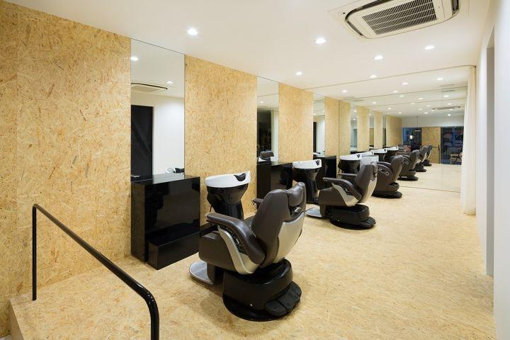 Точечное освещение в парикмахерской