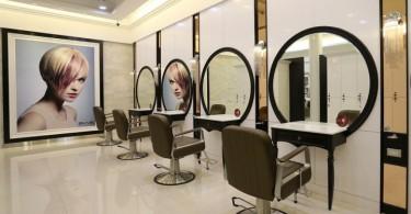 Интересный и изысканный интерьер парикмахерской