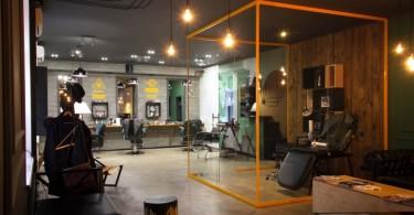 Эклектичный и стильный дизайн парикмахерской