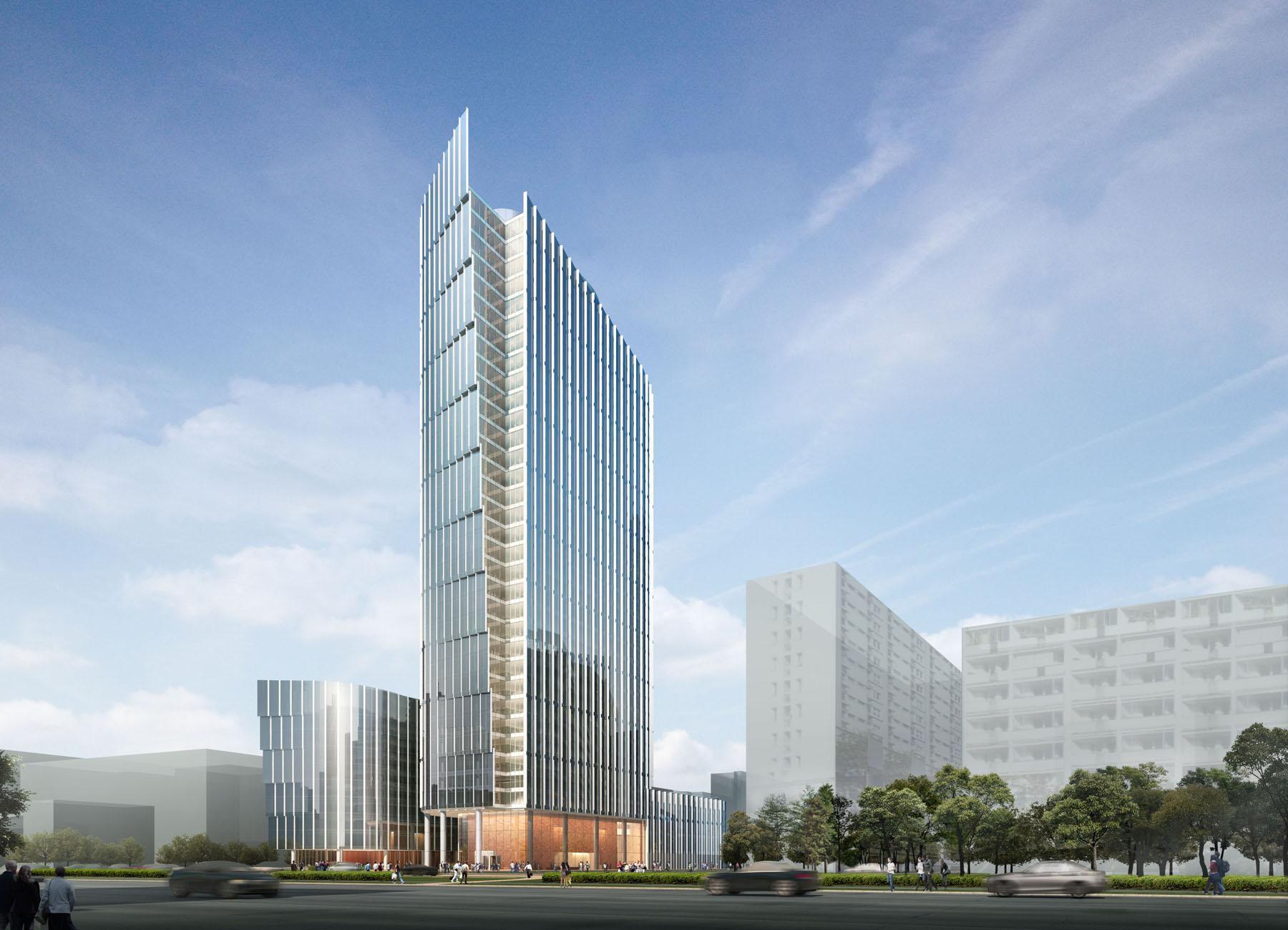 Современный фасад бизнес-центра