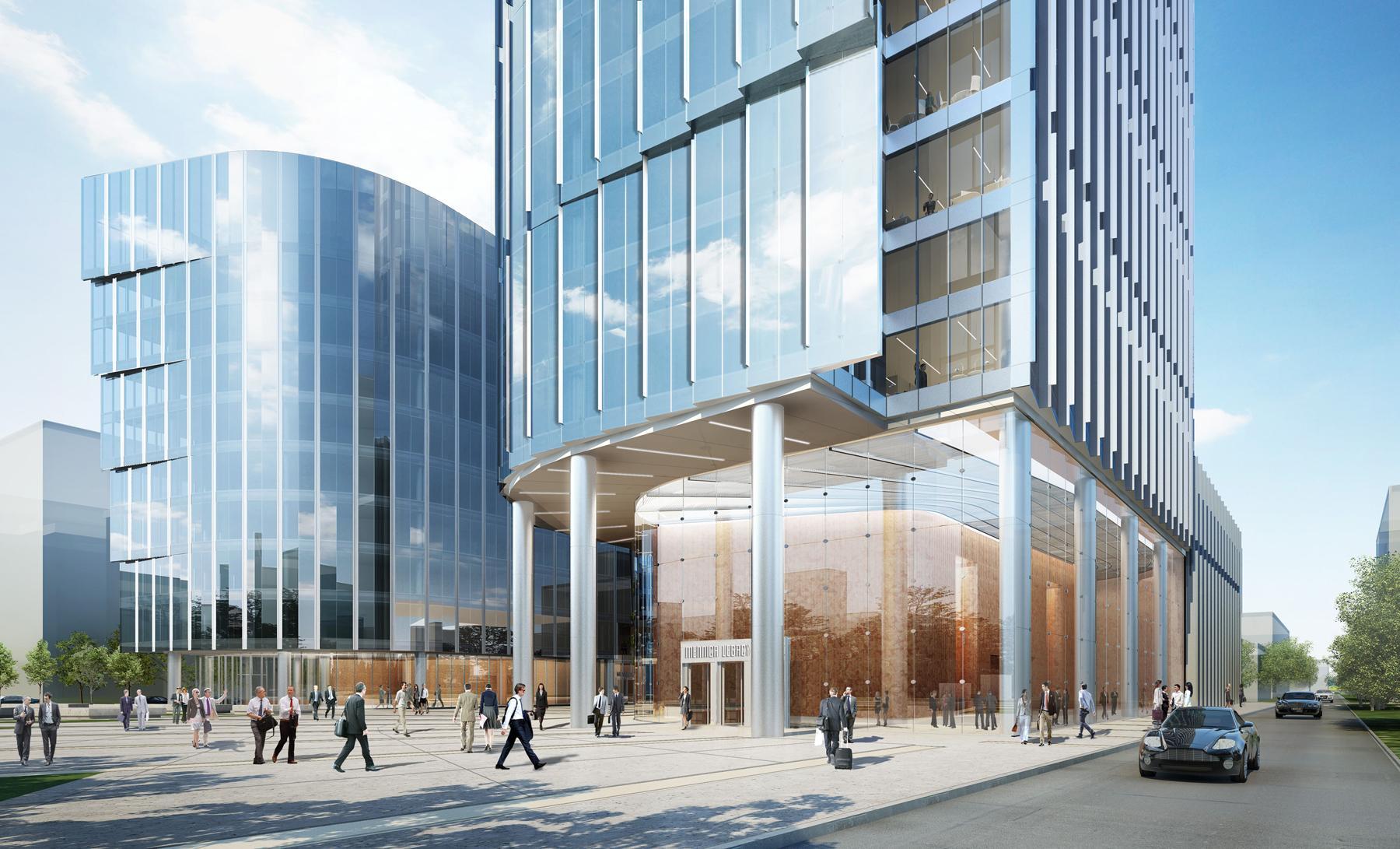 Экстерьер современного бизнес-центра