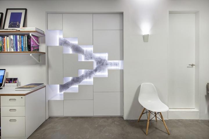 Подсветка стен в офисе