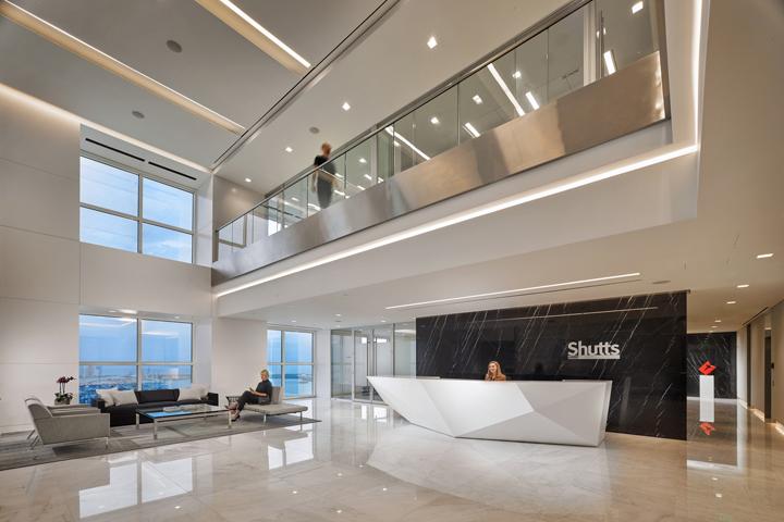 Дизайн интерьера юридической компании Shutts and Bowen