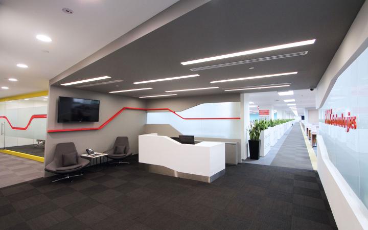 Дизайн ресепшн офиса FMC Technologies