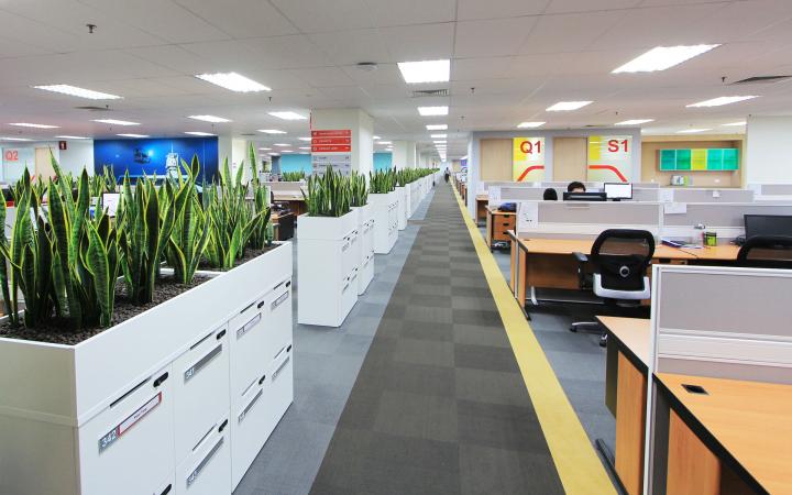 Рабочие зоны в офисе FMC Technologies