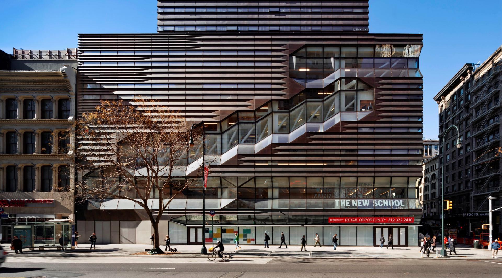Фасад учебного центра университета Greenwich Village