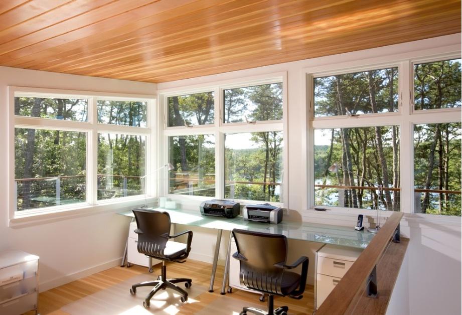 Большие окна в офисе