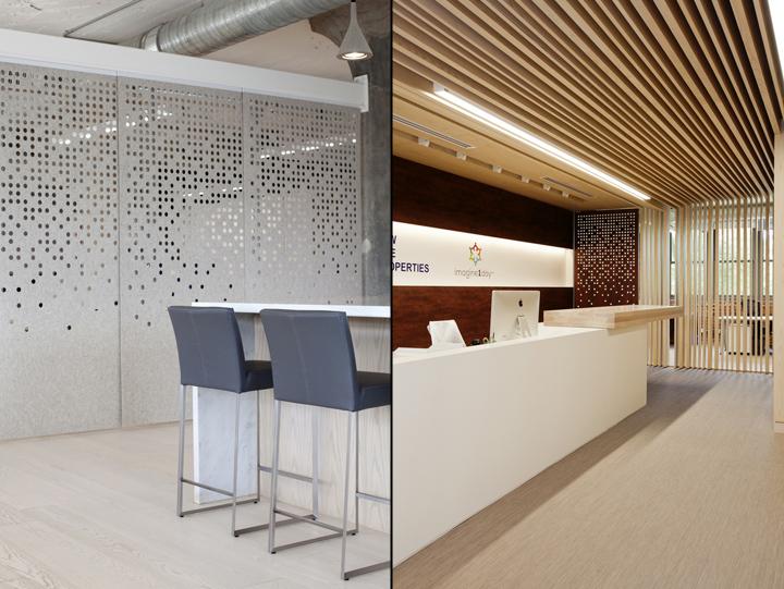 Необычное оформление потолка и стен в офисе
