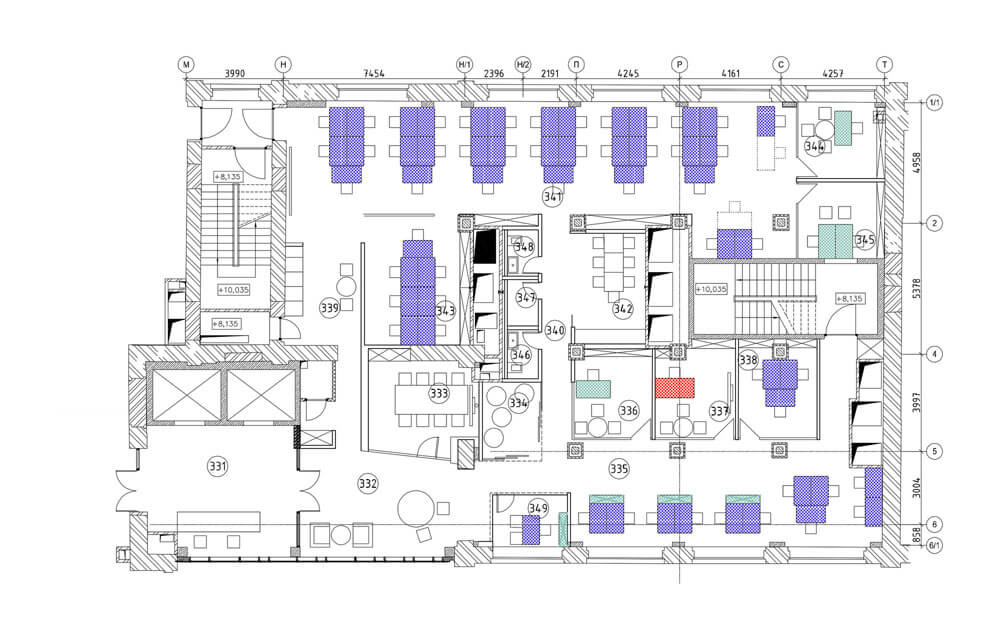 Креативное оформление офиса - план офиса
