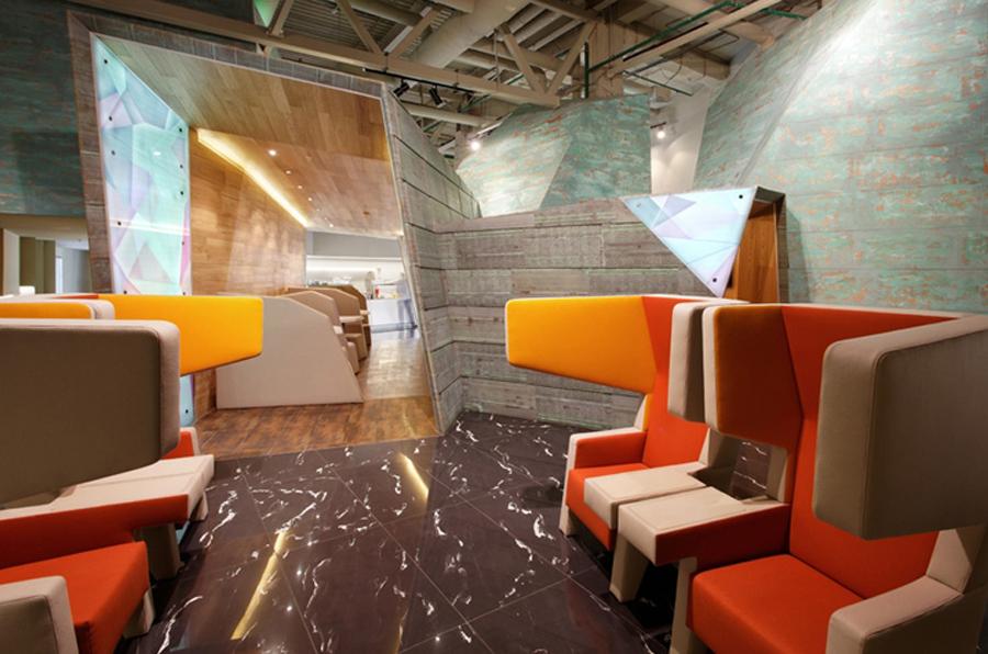 Красивый дизайн интерьера комнаты отдыха в аэропорту