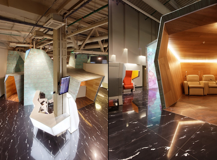 Замечательный дизайн интерьера комнаты отдыха в аэропорту