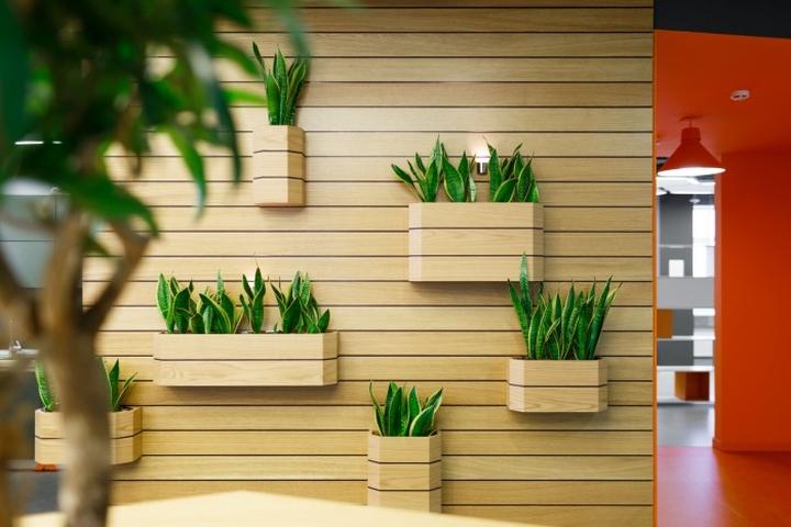 Настенные деревянные горшки для цветов