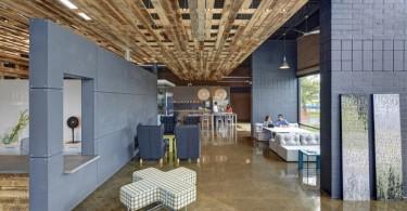 Стильный и эффектный дизайн интерьера современного офиса в Novi, Мичиган