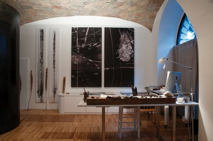 Дизайн интерьера мастерской-галереи картин