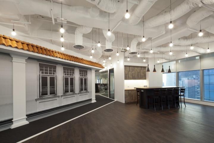 Белые стены и потолок в офисе