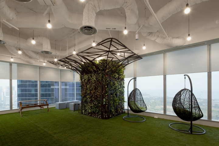 Декоративная клумба в офисе