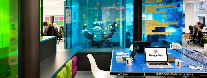 Оснащенный офис гаджетами и электроникой