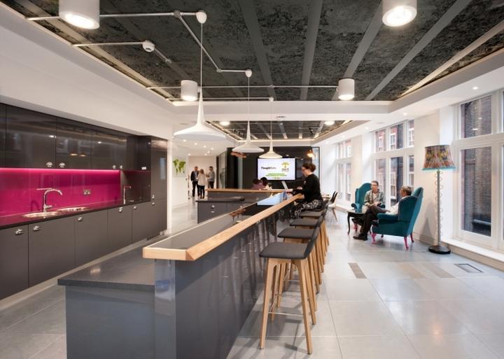 Обеденная зона с барной стойкой в офисе