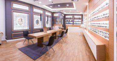 Дизайн магазина оптики в Венгрии
