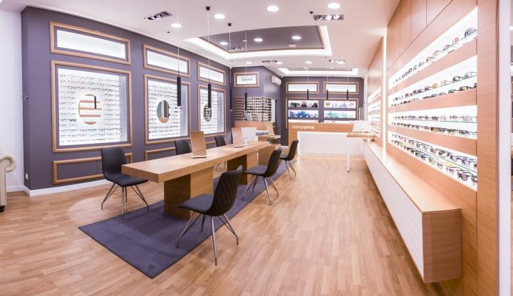 Дизайн магазина оптики от Csiszér Design