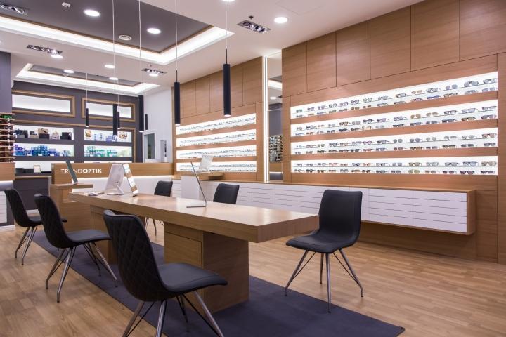 Дизайн магазина оптики: оформление интерьера