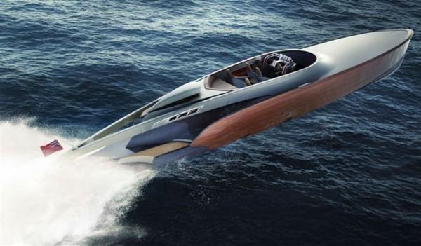 Современная лодка - прототип «Aeroboat». Примерно так она будет вести себя при включении полного газа.