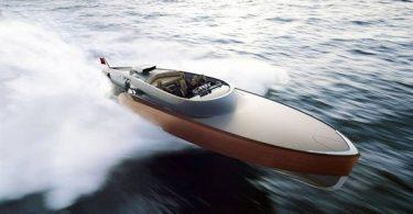 Изящная современная лодка «Aeroboat»