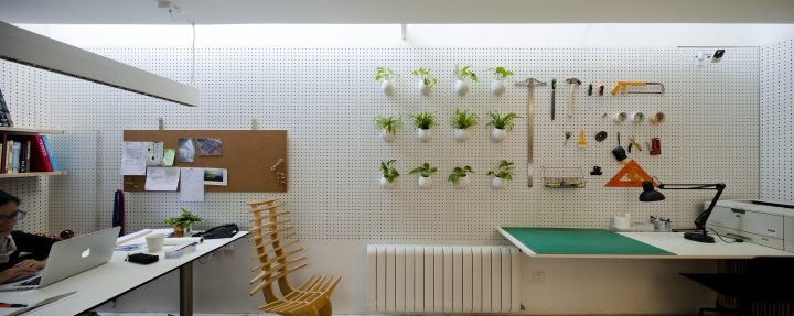 Декор зелеными растениями офиса от Lukstudio