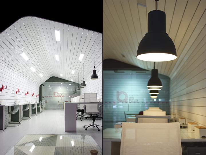 Подвесные светильники в офисе As Built Architecture Office