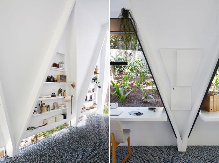 Белый интерьер офиса: игра геометрии