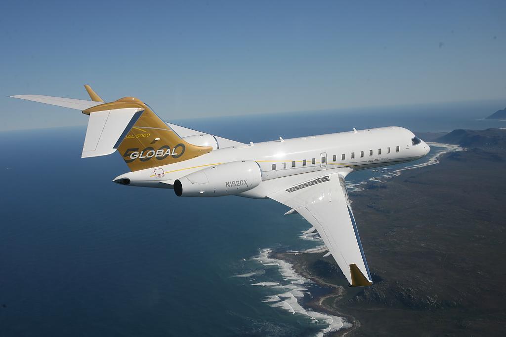 Бизнес-джет самолёт Bombardier BD-700-1A11 Global 5000 может эксплуатироваться на аэродромах с укороченной взлетно-посадочной полосой