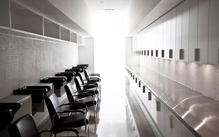Зал для мытья международной школы стилистов Blanche Macdonald в Канаде