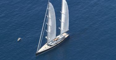 Большая парусная яхта Vertigo от компании Alloy Yachts