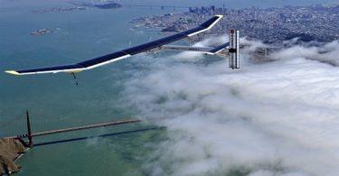 Большой планер Solar Impulse в солнечной авиации