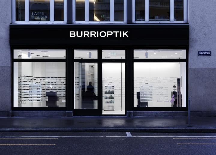 Бутик оптики Burrioptik в Цюрихе, Швейцария