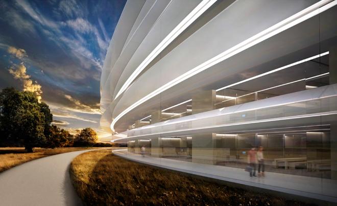 Дорога вдоль будущей штаб-квартиры компании Apple