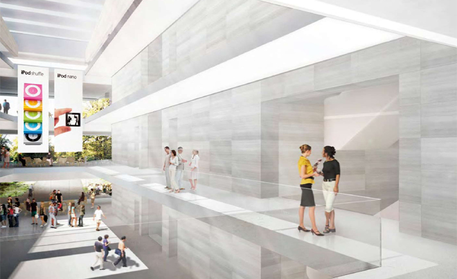 Многоуровневая будущая штаб-квартира компании Apple
