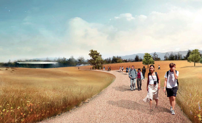 Дорога к будущей штаб-квартире компании Apple