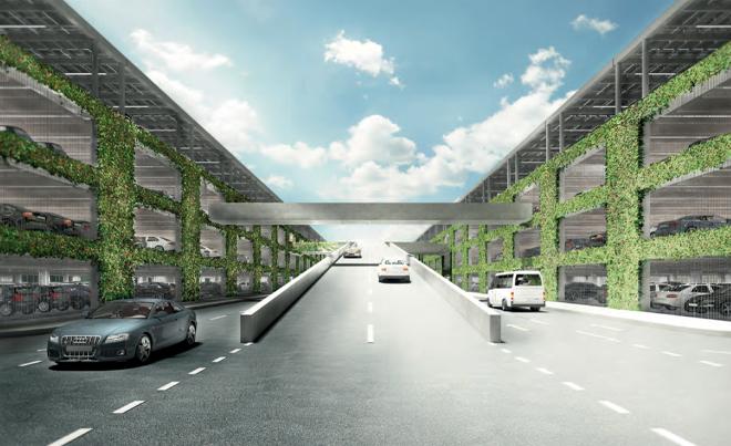 Многоуровневая стоянка для автомобилей будущей штаб-квартиры компании Apple