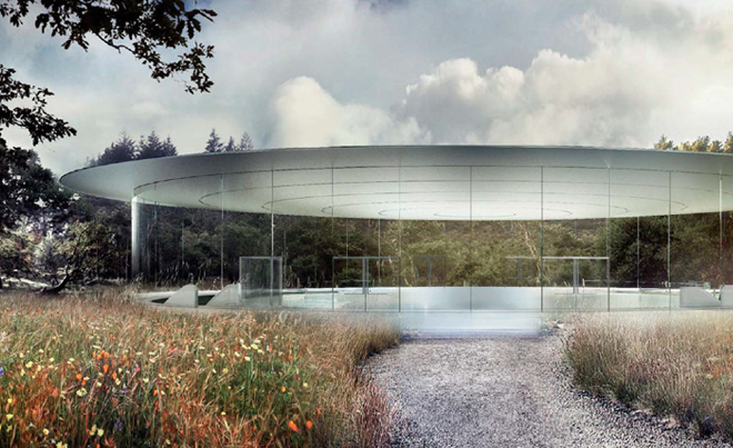 Стеклянное помещение будущей штаб-квартиры компании Apple