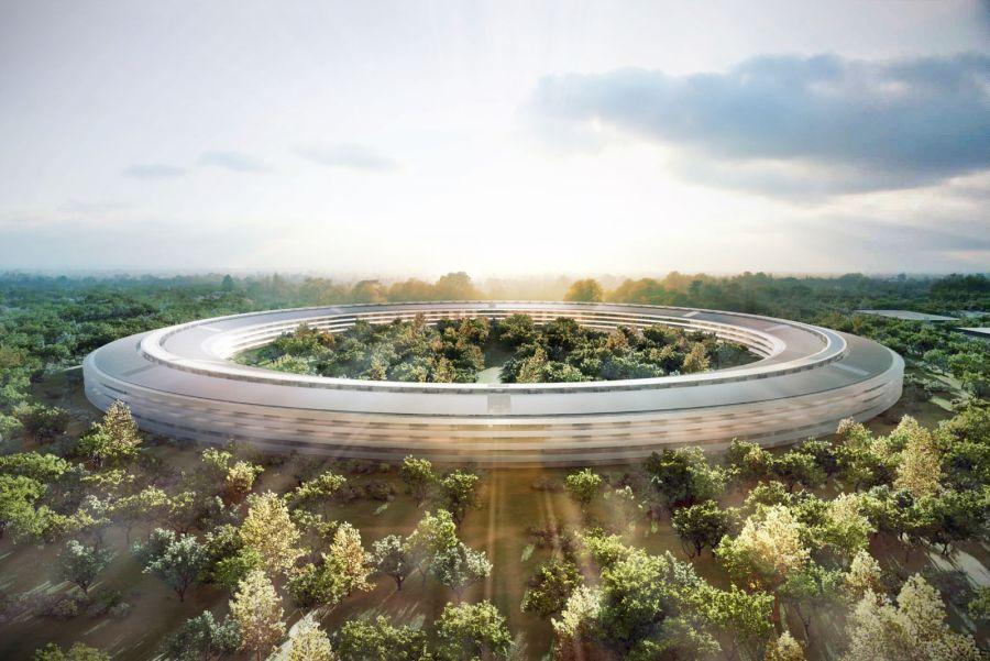 Роскошная будущая штаб-квартира компании Apple в Купертино