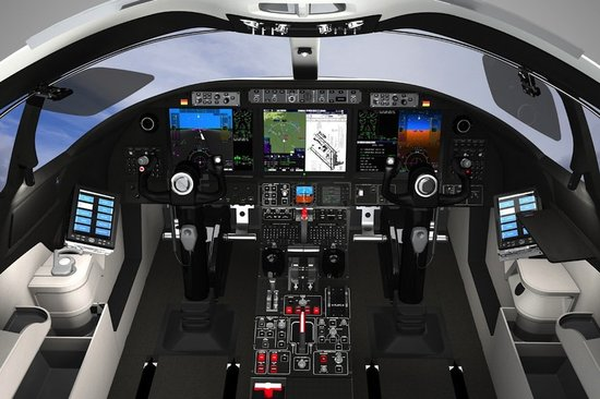 Комфортный интерьер частного самолёта бизнес-класса Learjet 85 - фото 2
