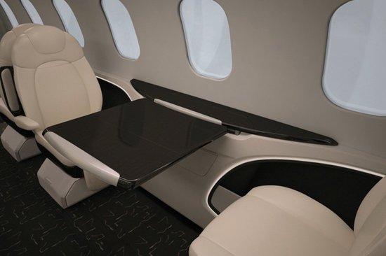 Комфортный интерьер частного самолёта бизнес-класса Learjet 85 - фото 4