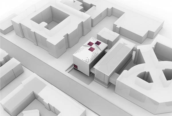 Мини-модель национальной библиотеки