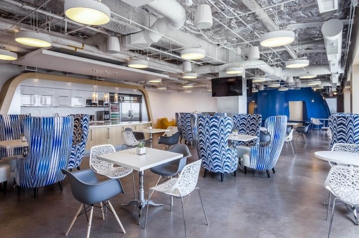 Дизайн интерьера кафетерия в Cornerstone OnDemand