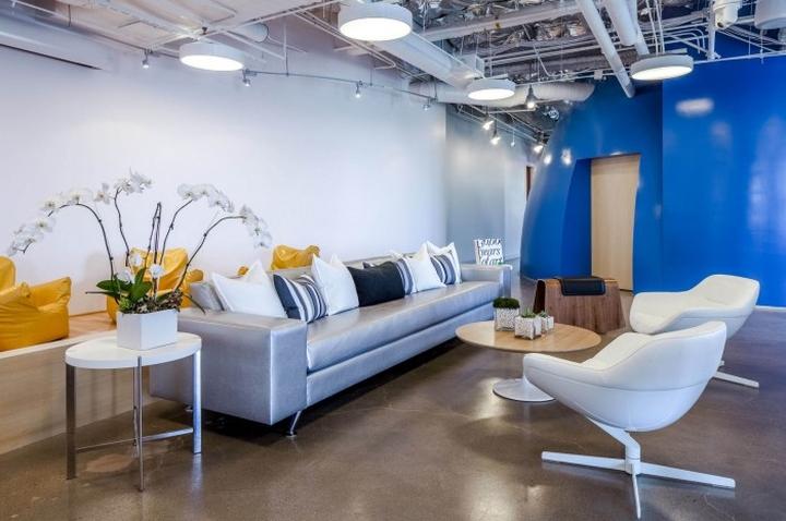 Дизайн интерьера зоны отдыха в Cornerstone OnDemand