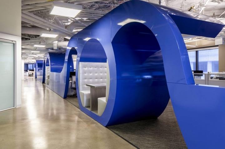 Дизайн интерьера главного офиса компании Cornerstone OnDemand, Лос-Анджелес