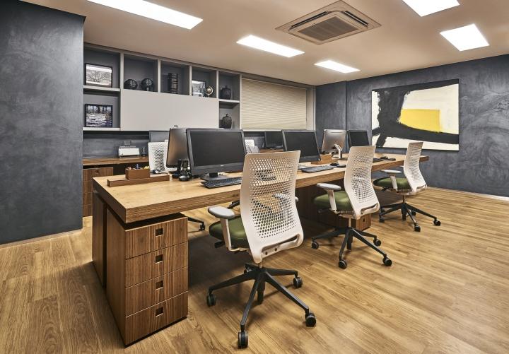 Деревянная отделка офиса в городе Нова Лима - дерево в интерьере