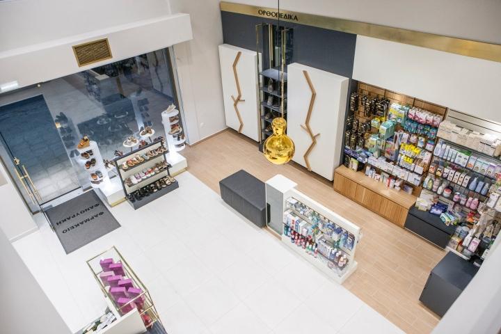 Дизайн аптеки: вид со второго этажа