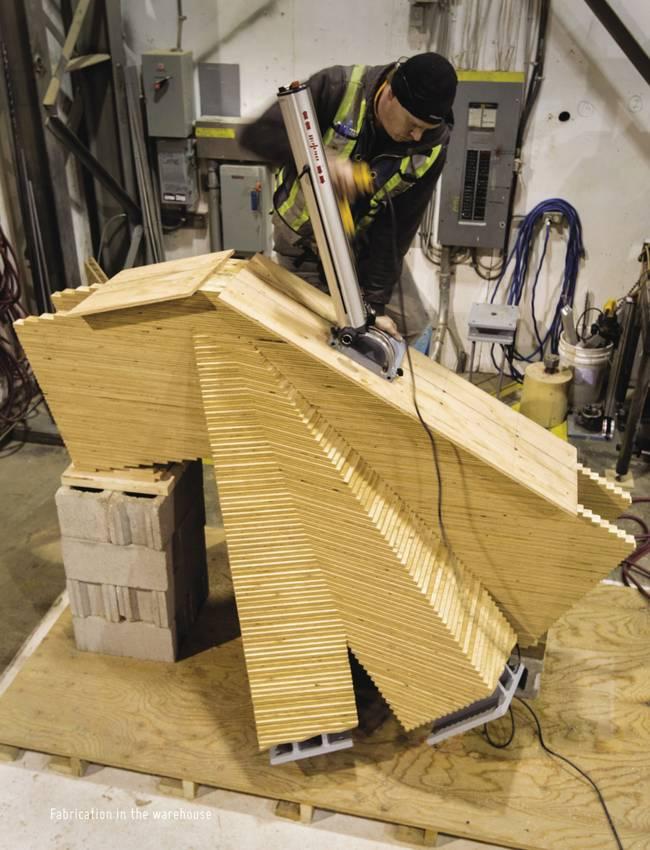 Дизайн деревянной крыши: работа с автоматическим станком